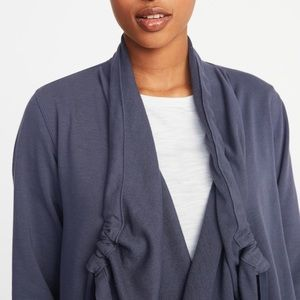 Old navy French terry open front wrap